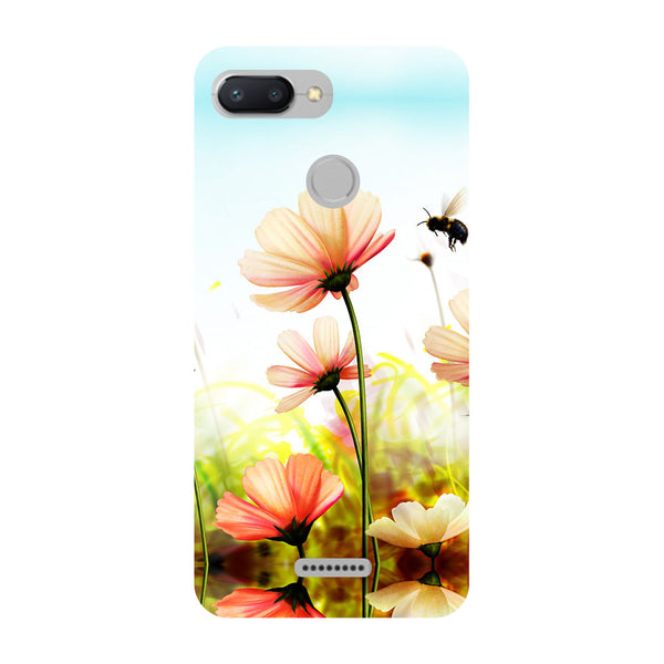 Flowers Field Redmi 6 Back Cover-Hamee India