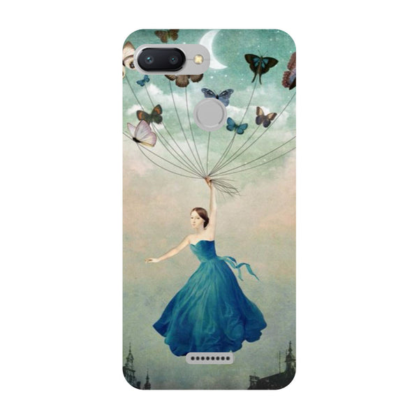 Flying Girl Redmi 6 Back Cover-Hamee India