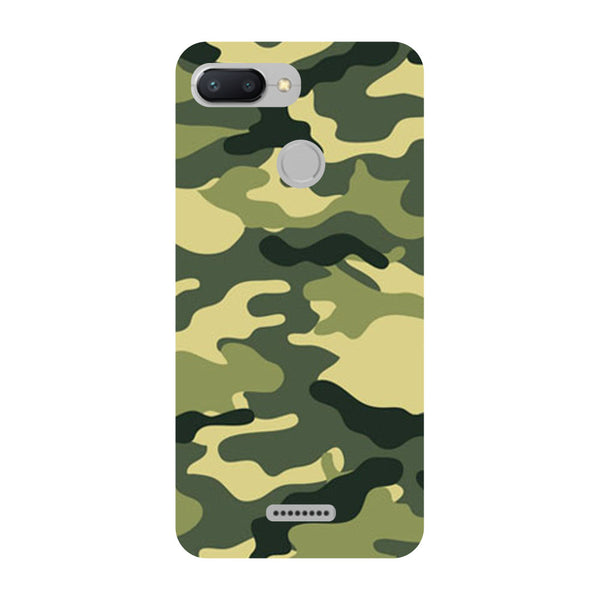 Camouflage Redmi 6 Back Cover-Hamee India