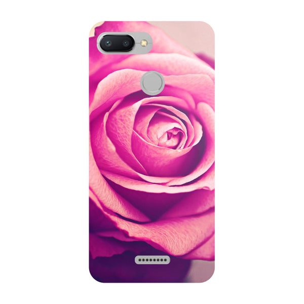 Pink Rose Redmi 6 Back Cover-Hamee India