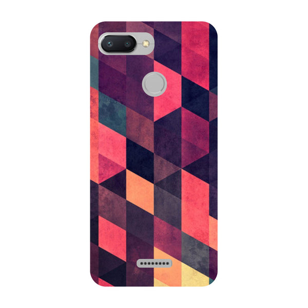 Pink Abstract Redmi 6 Back Cover-Hamee India