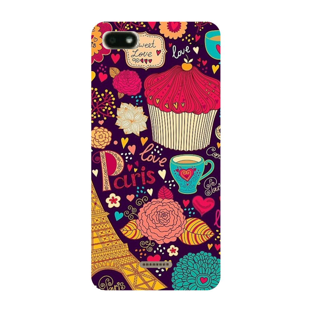 b2667da79e6 Paris Doodles Printed Hard Back Case Cover for Redmi 6A