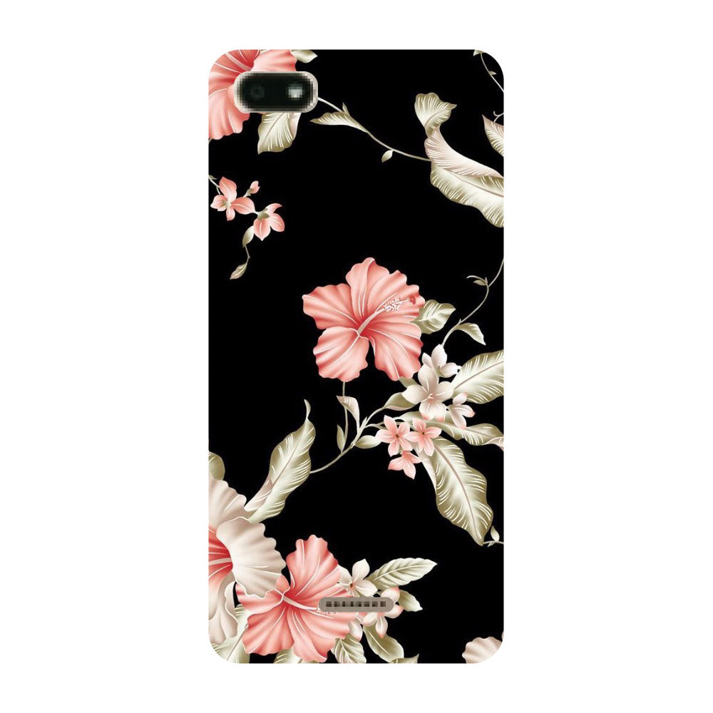 timeless design 180ae 7801f Black Floral Redmi 6A Back Cover