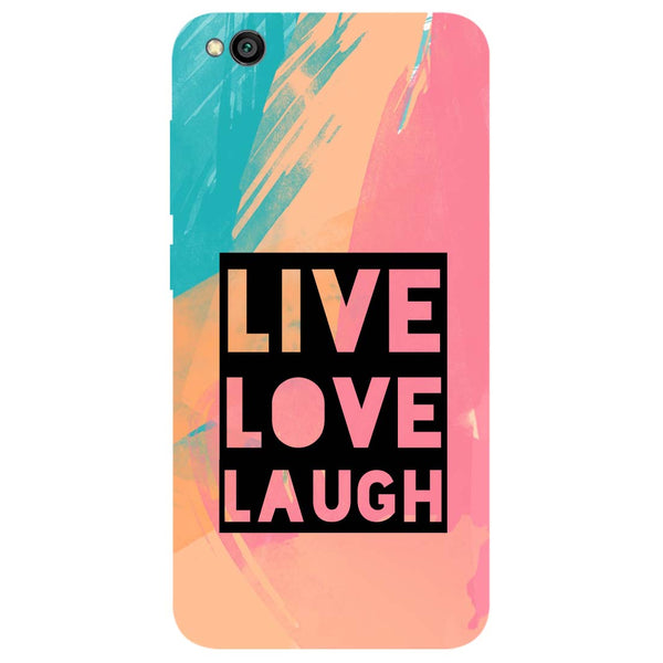 Live Love Redmi Go Back Cover-Hamee India