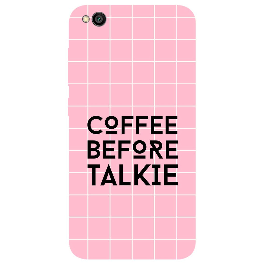 Coffee Talkie Redmi Go Back Cover-Hamee India