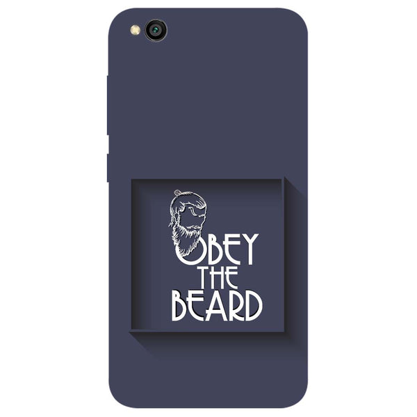 Obey Beard Redmi Go Back Cover-Hamee India