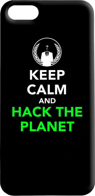 "Hamee Back Cover for VIVO V3 Max "" Keep Calm Hack The Planet "" - Hamee India"