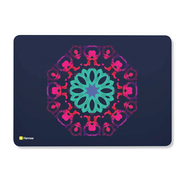 Tile Mandala Navy Blue Macbook Air 13 Retina (2018) Case-Hamee India