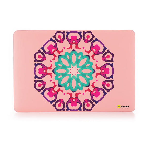 Tile Mandala Pastel Pink Macbook Air 13 Retina (2018) Case-Hamee India