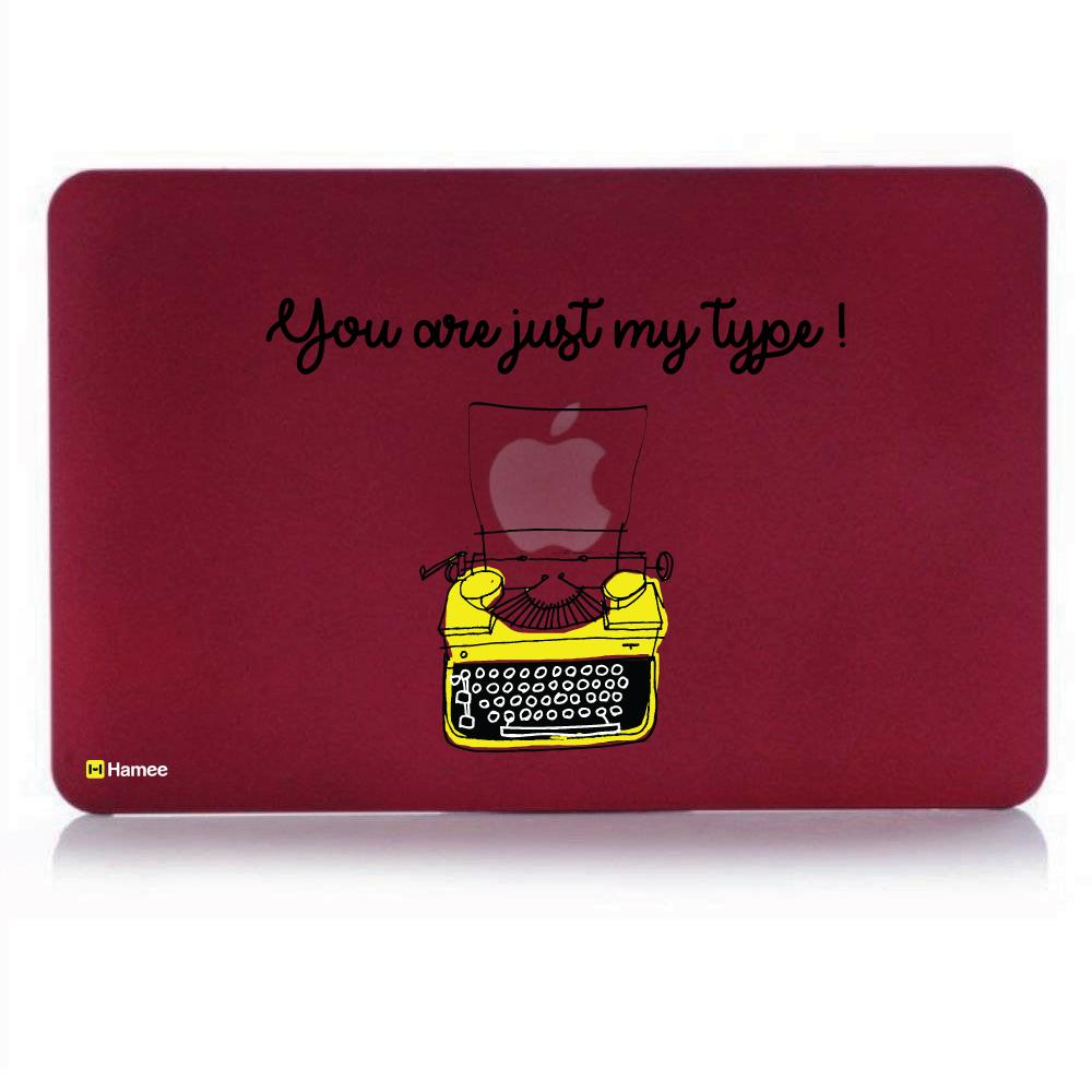 Type Wine Red Macbook Air 13 Retina (2018) Case-Hamee India