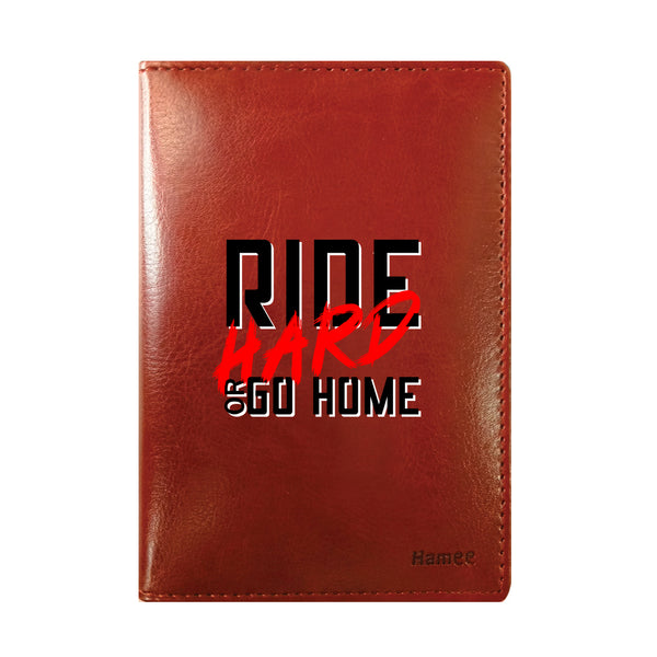 Ride Hard Brown PU Leather Passport Wallet / Holder-Hamee India