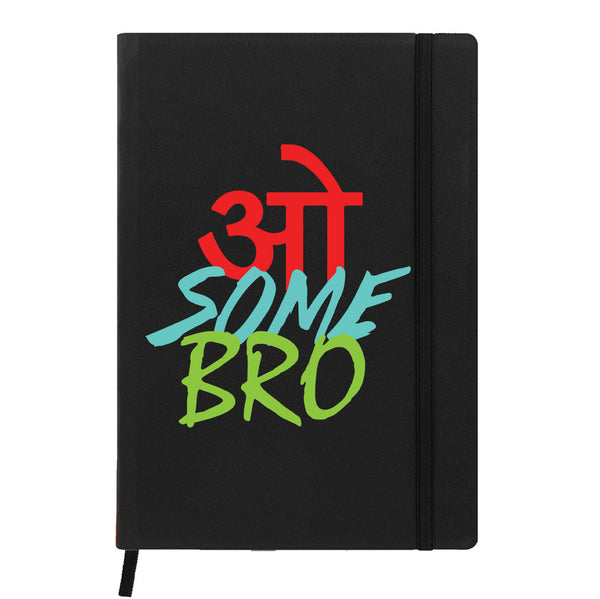 Hamee - Awesome Bro - Raksha Bandhan Special Black Leather Planner / Organizer