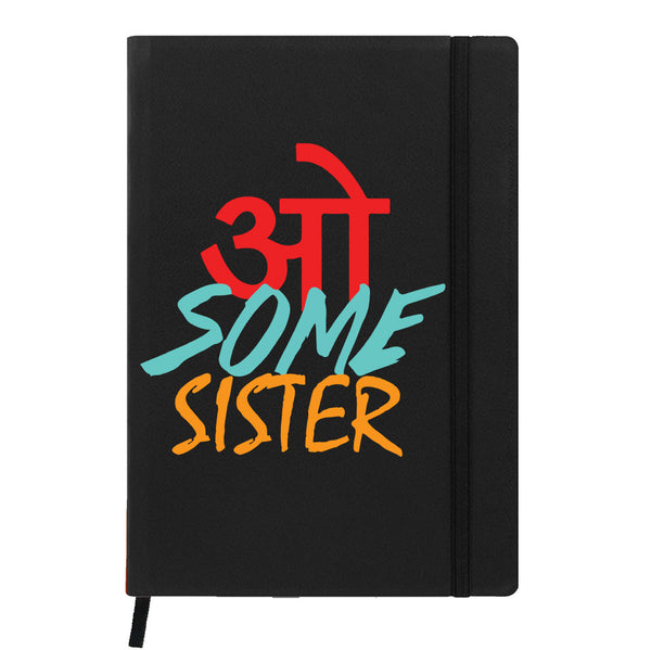 Hamee - Awesome Sister - Raksha Bandhan Special Black Leather Planner / Organizer