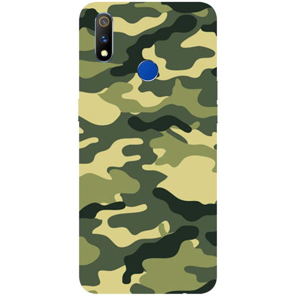 Green Camouflage RealMe 3 Pro Back Cover-Hamee India