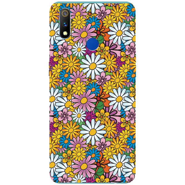 Colourful Flowers RealMe 3 Pro Back Cover-Hamee India