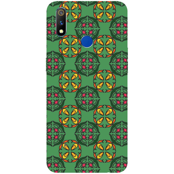 Ethnic Motif RealMe 3 Pro Back Cover-Hamee India