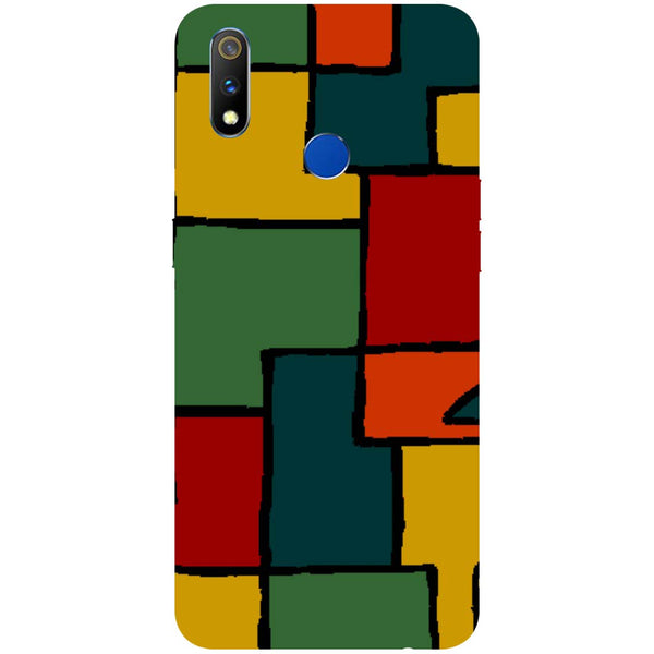 Blocks RealMe 3 Pro Back Cover-Hamee India