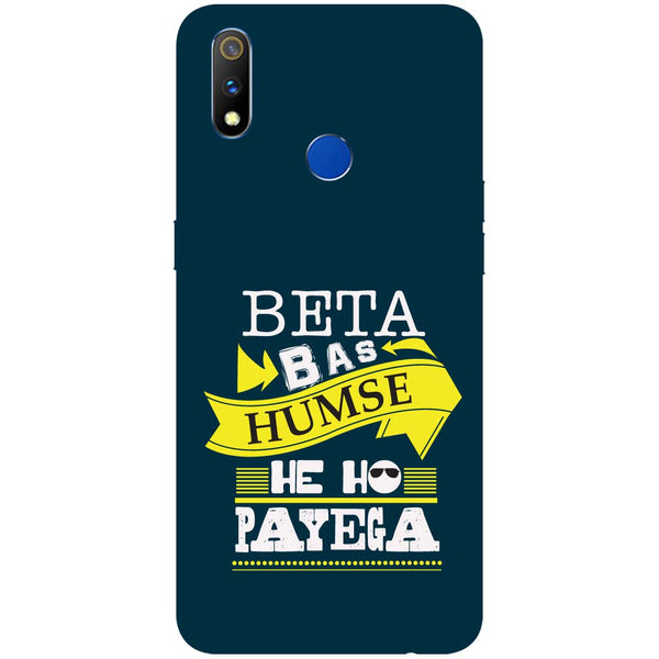 Beta RealMe 3 Pro Back Cover-Hamee India
