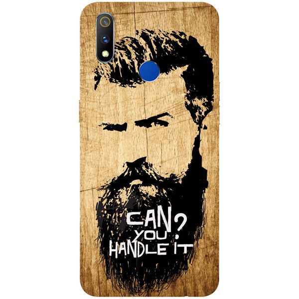 Handle Beard RealMe 3 Pro Back Cover-Hamee India