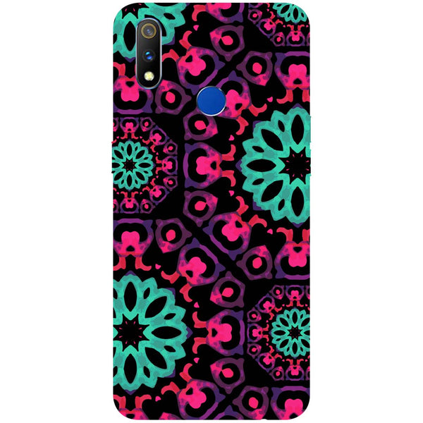 Mandala Print RealMe 3 Pro Back Cover-Hamee India