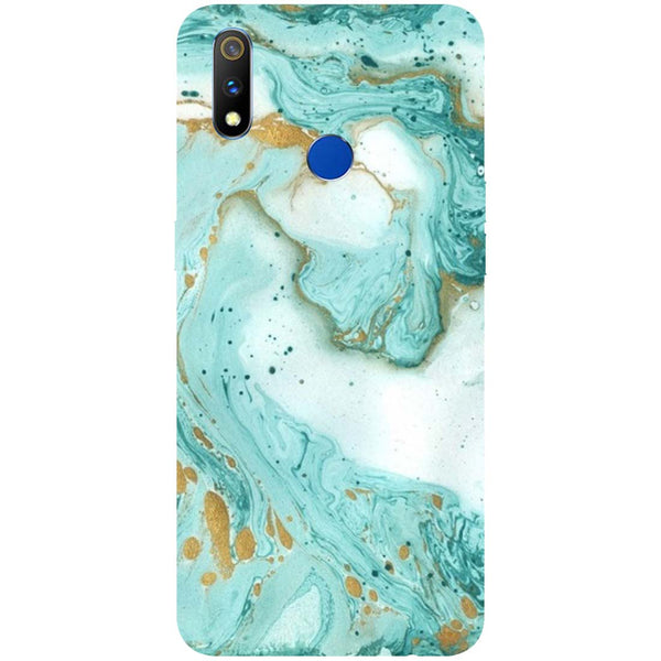 Marble RealMe 3 Pro Back Cover-Hamee India