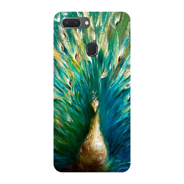 Peacock Paint Oppo RealMe 2 Pro Back Cover-Hamee India