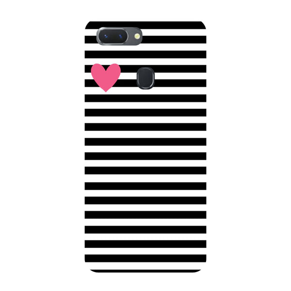 Heart Stripes Oppo RealMe 2 Pro Back Cover-Hamee India