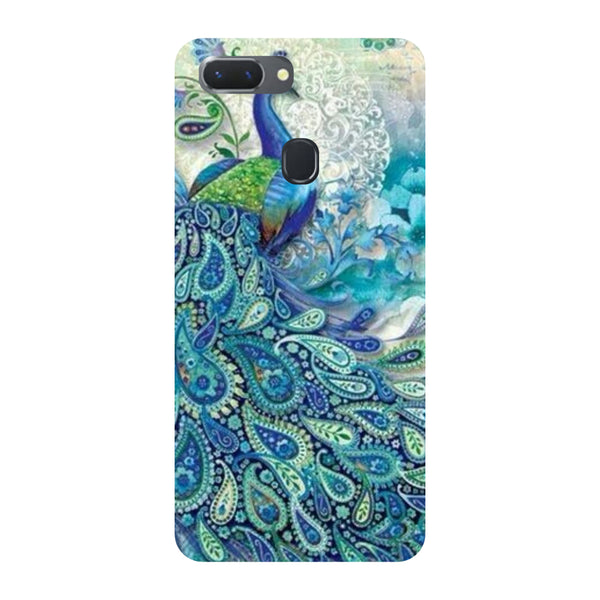 Blue Peacock Oppo RealMe 2 Back Cover-Hamee India