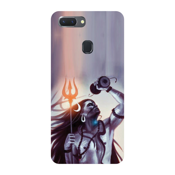 Purple Shiva Oppo RealMe 2 Pro Back Cover-Hamee India