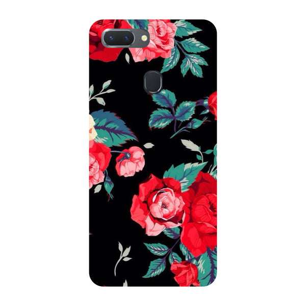 Black Bloom Oppo RealMe 2 Back Cover-Hamee India