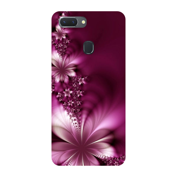 Purple Flowers Oppo RealMe 2 Back Cover-Hamee India