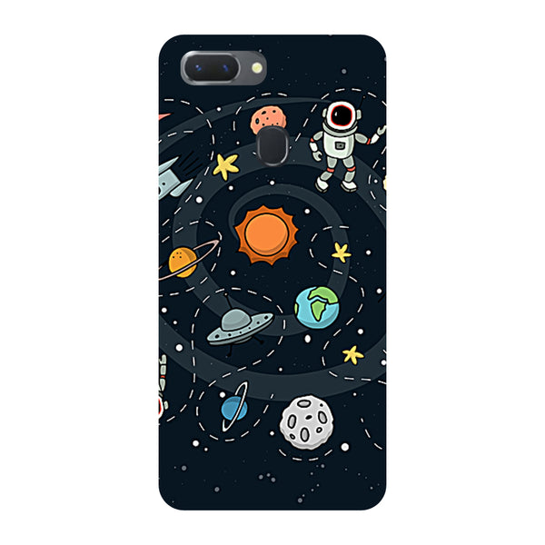 Space Oppo RealMe 2 Pro Back Cover-Hamee India