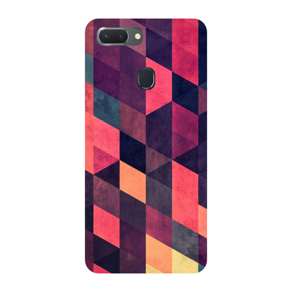 Pink Abstract Oppo RealMe 2 Pro Back Cover-Hamee India