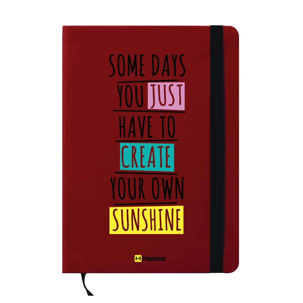 Create Your Own Sunshine A6 Pocket Diary-Hamee India