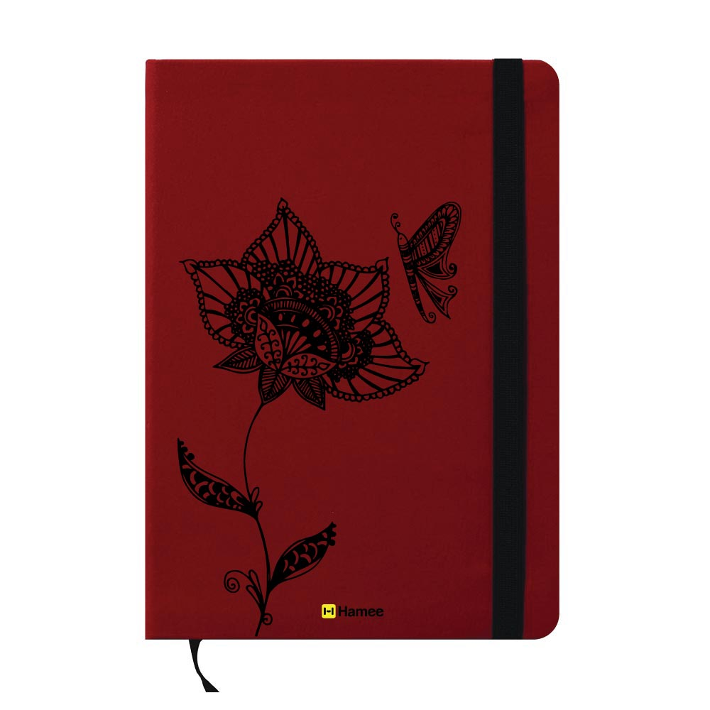 Butterfly Design A6 Pocket Diary-Hamee India