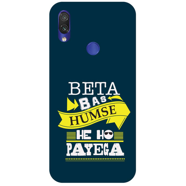 Beta Redmi Note 7 Back Cover-Hamee India
