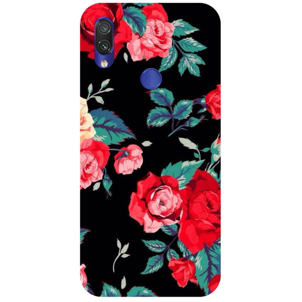 Black Bloom Redmi Note 7 Back Cover-Hamee India