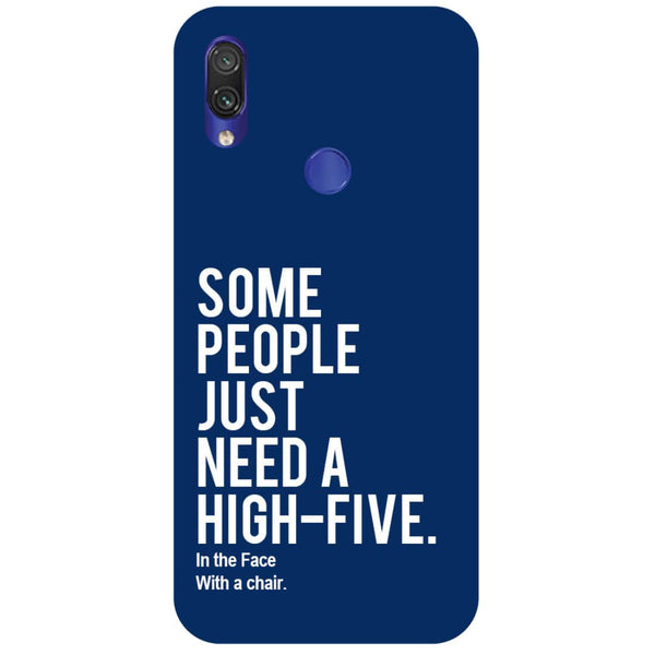 High Five Redmi Note 7 Back Cover-Hamee India