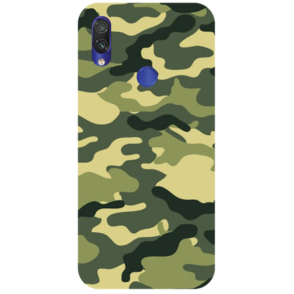 Green Camouflage Redmi Note 7 Back Cover-Hamee India
