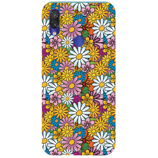Colourful Flowers Redmi Note 7 Back Cover-Hamee India