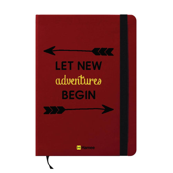 Let New Adventure Begin A6 Pocket Diary-Hamee India