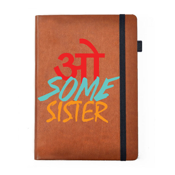 Hamee - Awesome Sister - Raksha Bandhan Special Tan Brown Leather Planner / Organizer