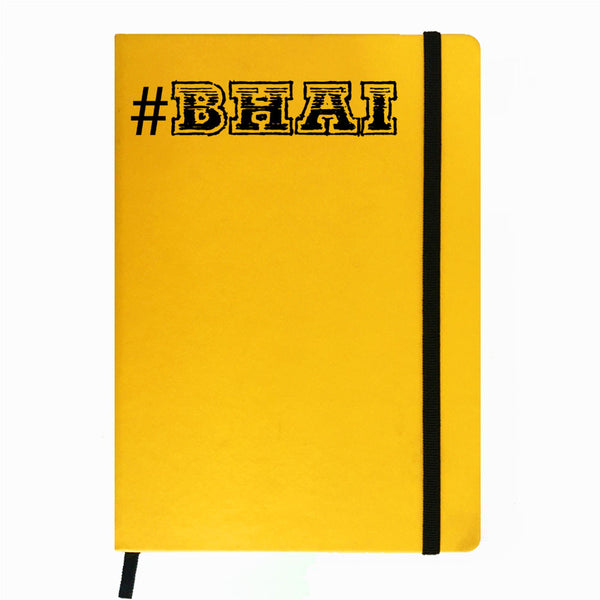 #Bhai - Raksha Bandhan Special Tan Yellow Leather Planner / Organizer-Hamee India
