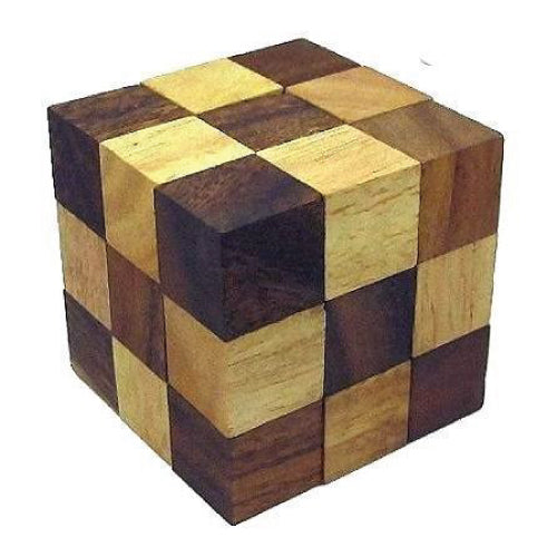 Wooden Cube Puzzle Game-Hamee India