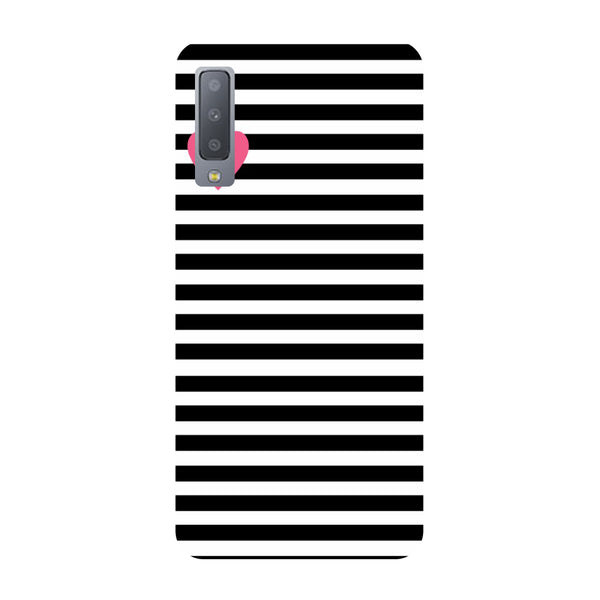 Heart Stripes Samsung Galaxy A7 Back Cover-Hamee India
