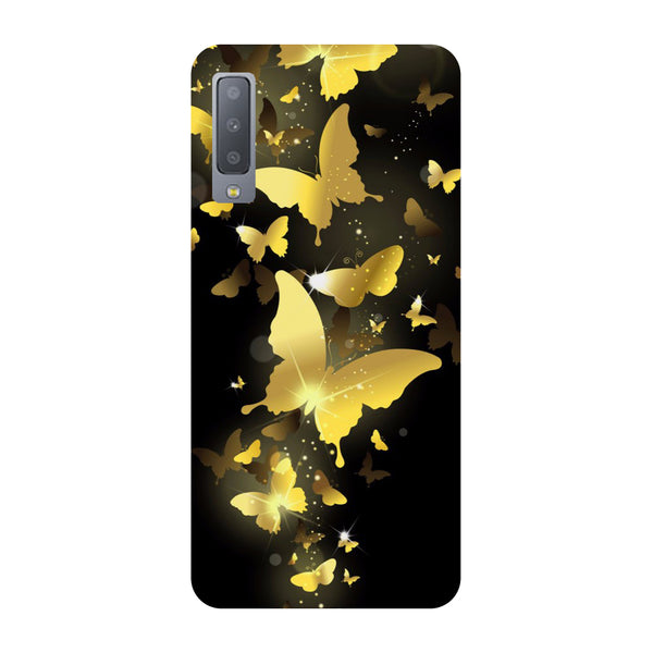 Golden Butterflies Samsung Galaxy A7 Back Cover-Hamee India