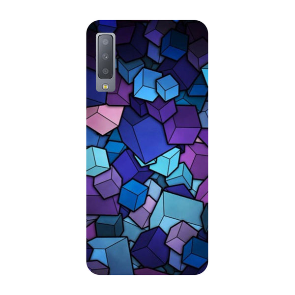 Cubes Samsung Galaxy A7 Back Cover-Hamee India