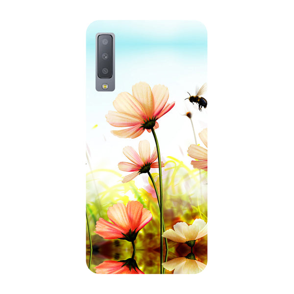 Flowers Field Samsung Galaxy A7 Back Cover-Hamee India
