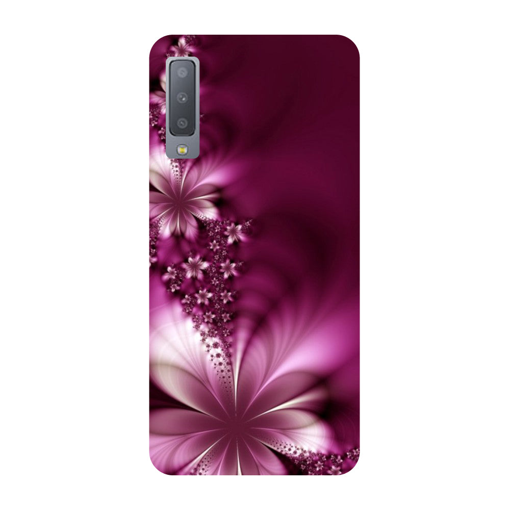 reputable site 0c383 20fa5 Purple Flowers Samsung Galaxy A7 Back Cover