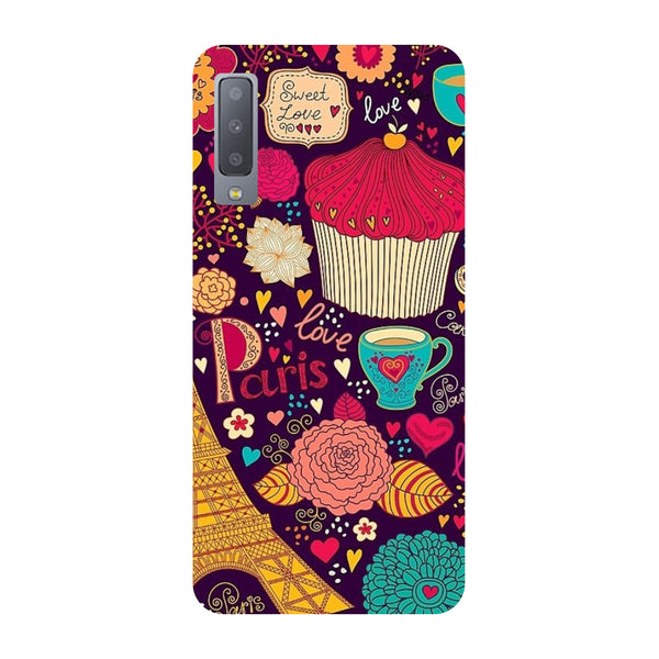 Paris Doodles Samsung Galaxy A7 Back Cover-Hamee India